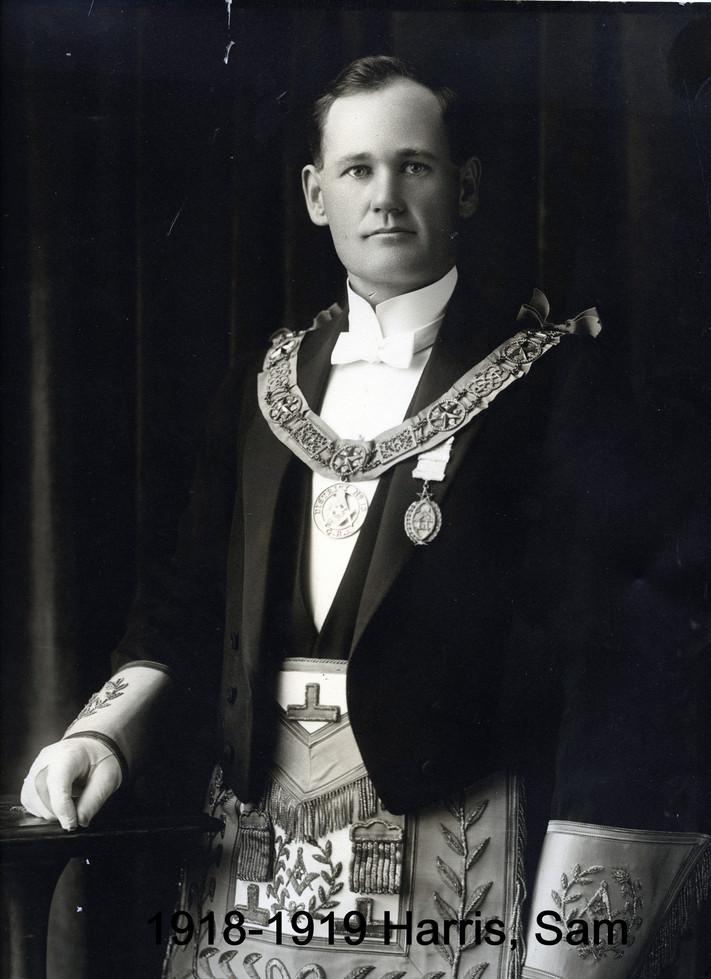 1918 R.W. Bro Sam Harris