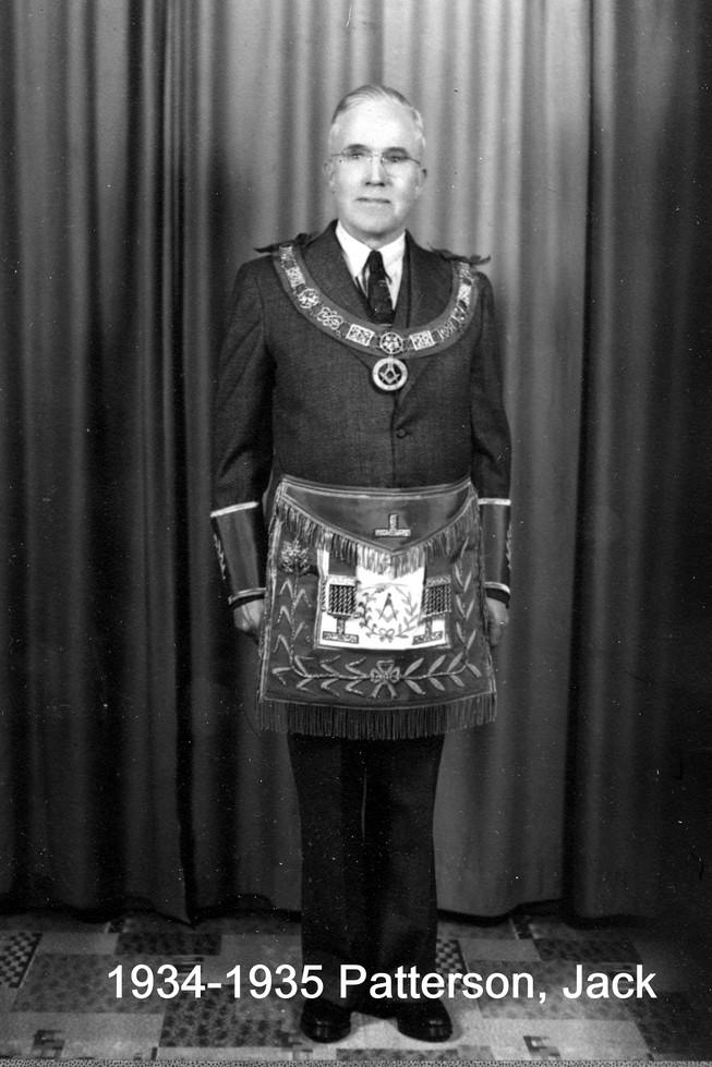 1934 R.W. Bro. Jack O. Patterson