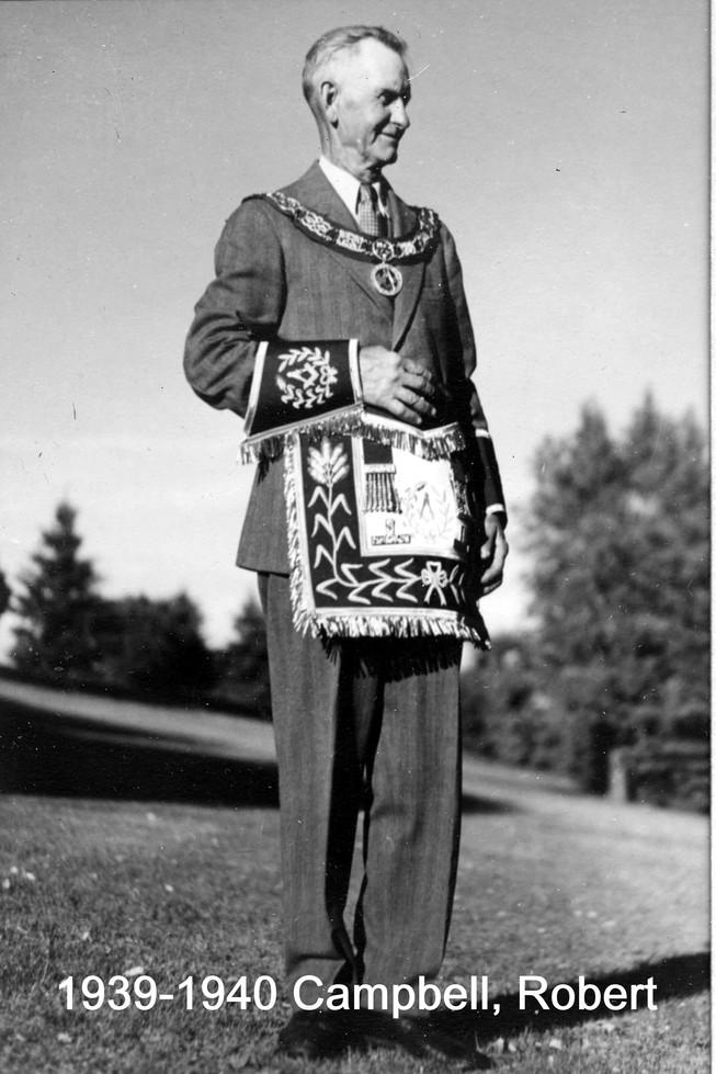1939 R.W. Bro. Robert E Campbell