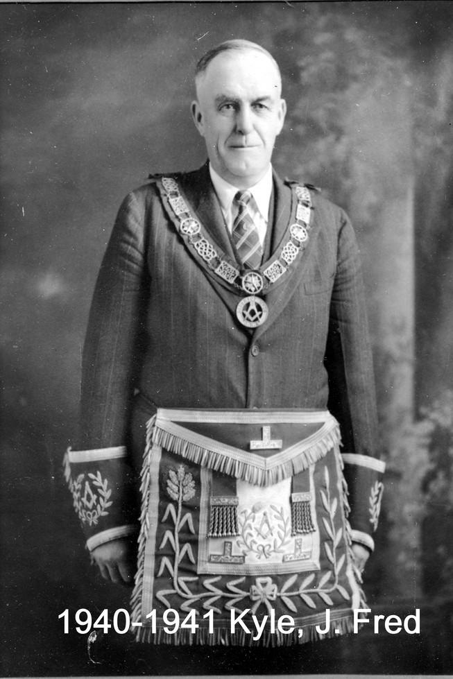 1940 R.W. Bro. J. Fred Kyle