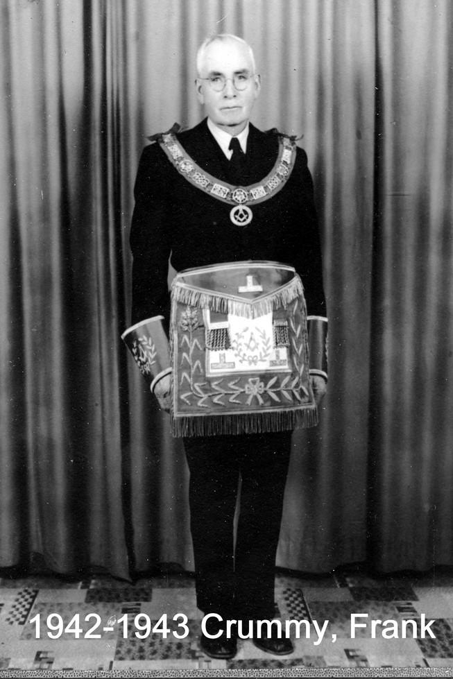 1942 R.W. Bro. Frank Crummy