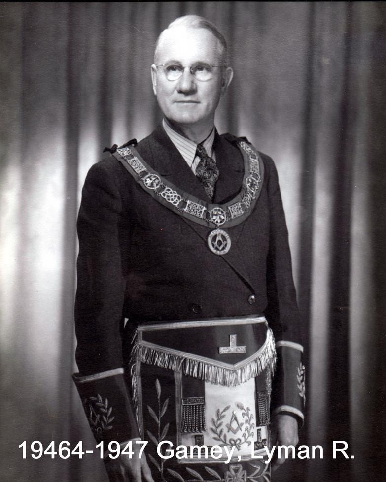 1946 R.W. Bro. Layman R. Gamey