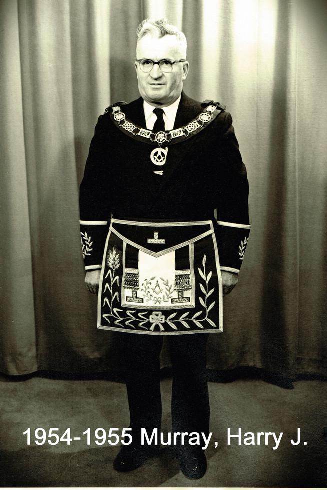 1954 R.W. Bro.Harry J. Murray