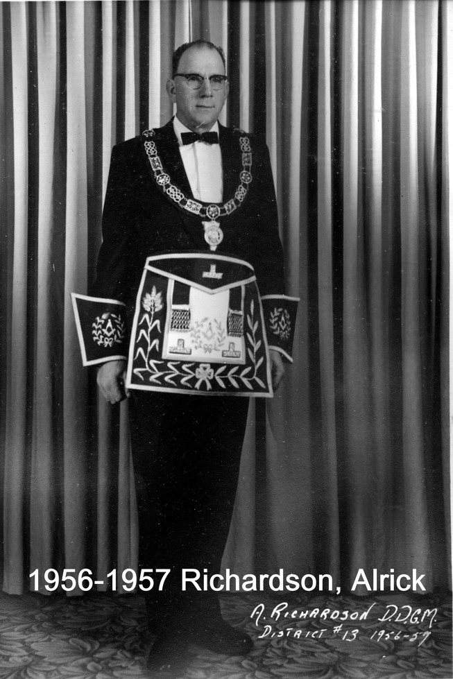 1956 R.W. Bro. Alrick Richardson